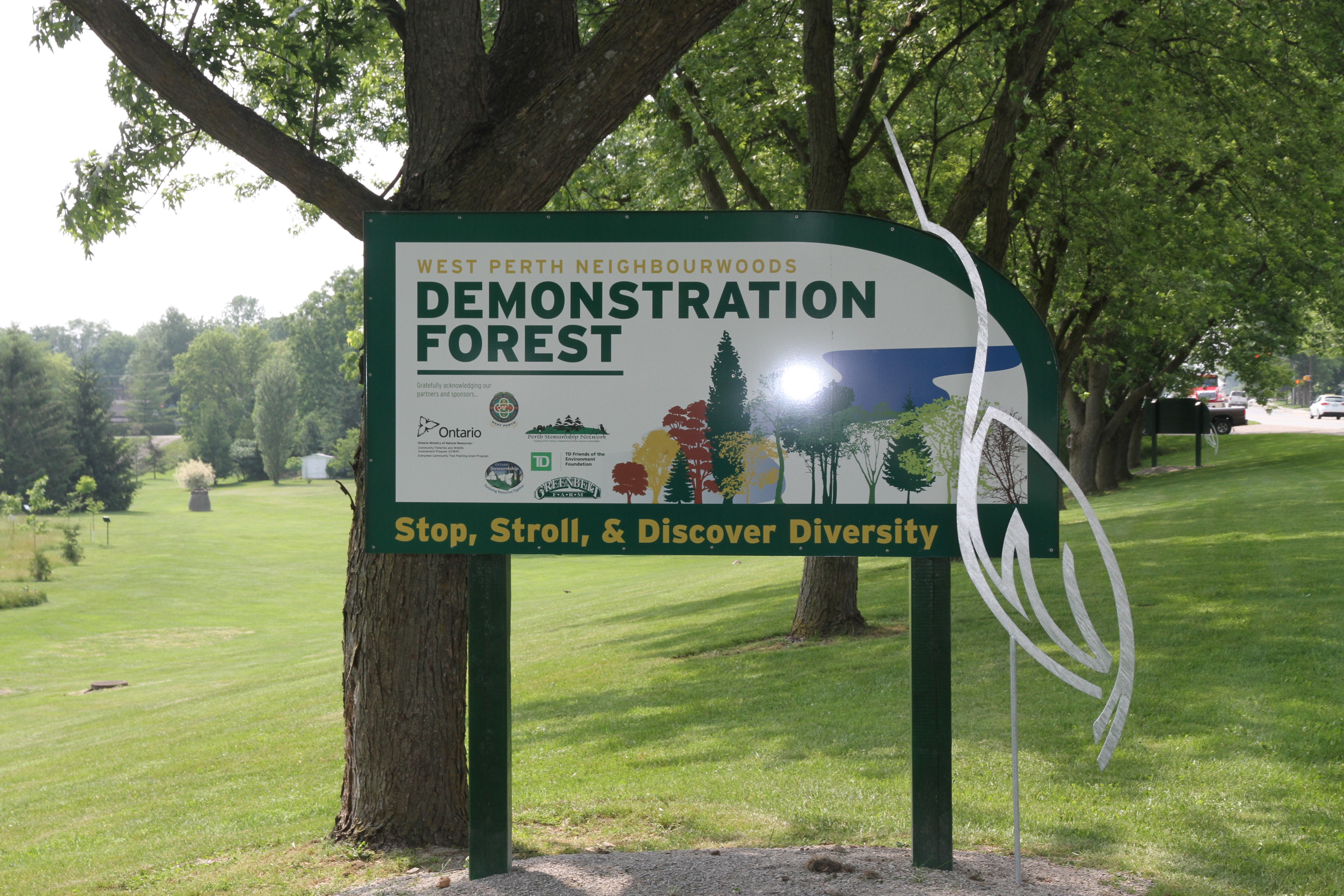 Demonstration Forest Sign