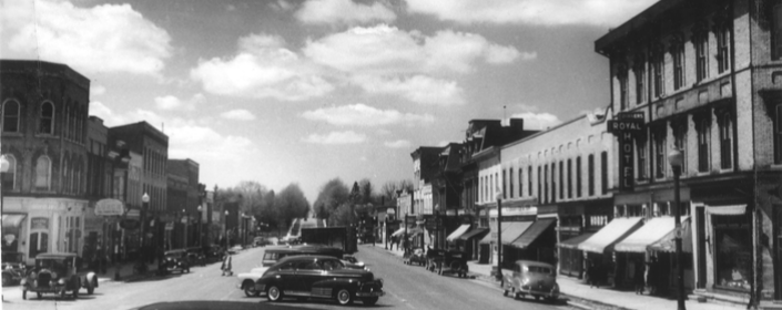 Centre Road Parking on Main Street 1950