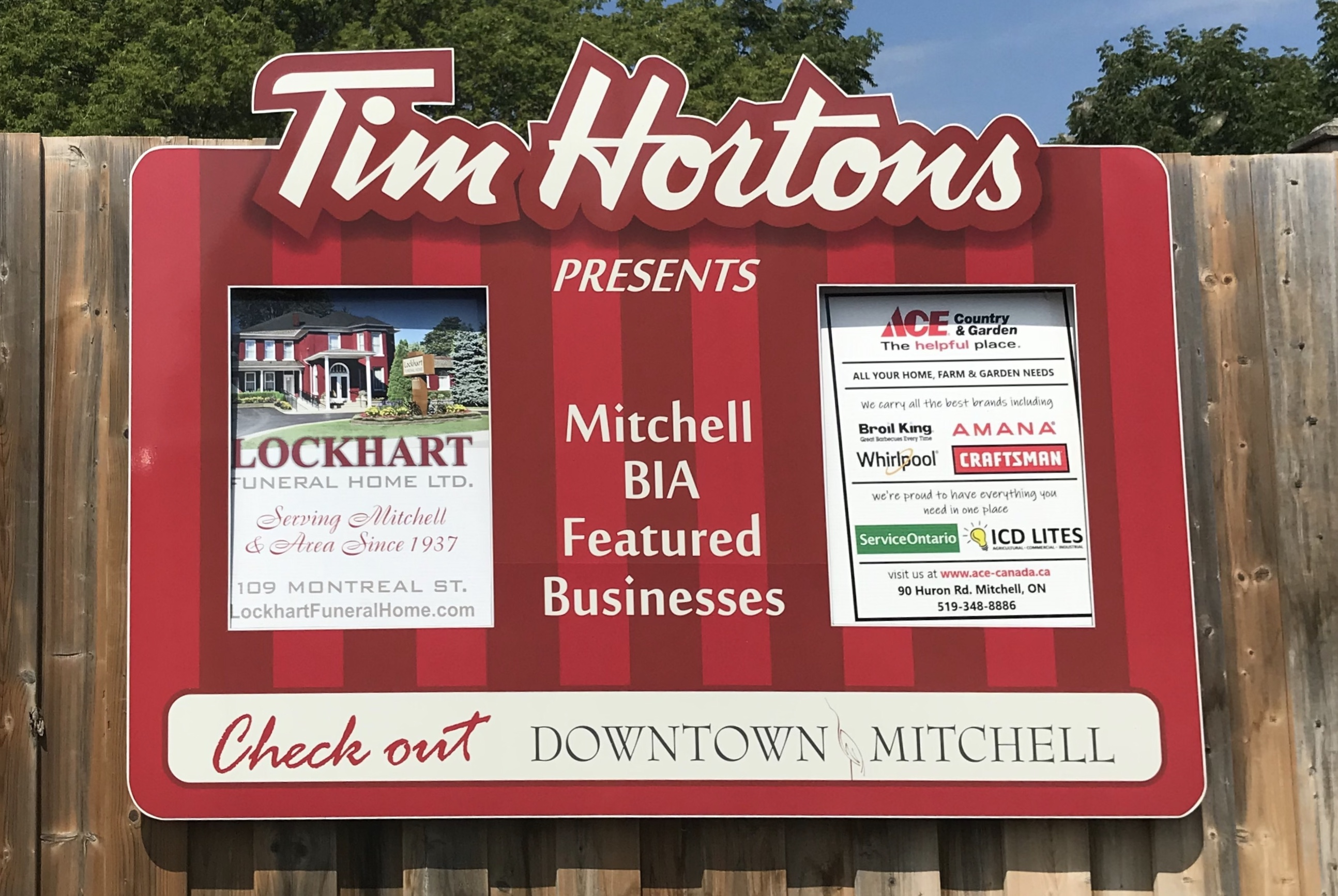 View our Tim Horton's Advertising Board