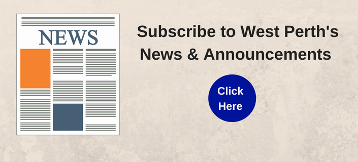 Subscribe to West Perth's News & Announcements